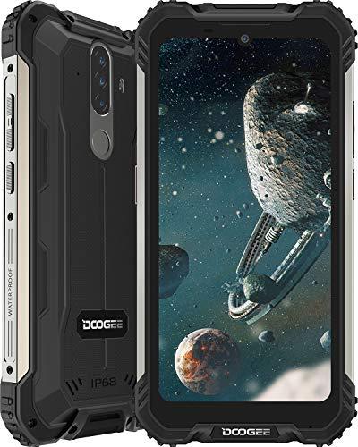 Telephone Portable Incassable, DOOGEE S58 Pro (2020) Smartphone Débloqué 4G, 5.71 Pouces, Android 10.0, 6Go+64Go, 16MP+16MP Triple Caméra, Batterie 5180mAh, Dual SIM Antichoc/Étanche/NFC/Face - Noir