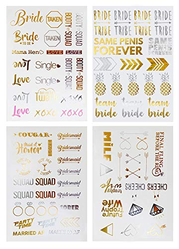 Bachelorette Party Tattoos - Bachelorette Party Favors, Decorations & Supplies by Sterling James Co....
