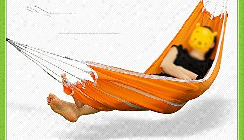 MONEYY Des hamacs de voyage intérieur et extérieur domaine du tourisme de loisirs unique toile lit swing unique épais 190*72cm