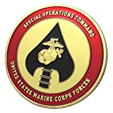 U.S. United States Marine Corps USMC | U.S. Marine Corps Forces Special Operations Command MARSOC | Gold Plated Challenge Coin