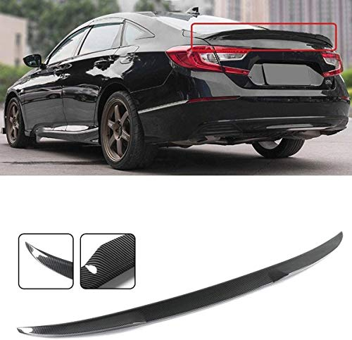 YUMTOL Suitcase Spoiler Abs Carbon Fiber Color Rear Trunk Lid Spoiler Wings Fit Forhonda Fit For Accord 10. For Jdm 2018-2019 Lip Spoiler Strips
