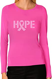 TeeStars - Hope Breast Cancer Awareness Pink Ribbon Women Long Sleeve T-Shirt
