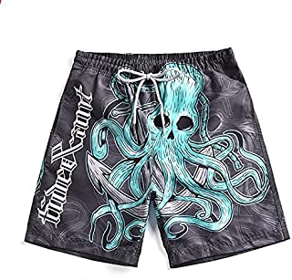 Men 3D Printed Octopus Beach Pants Quick-Drying Swimming Shorts High Quality (Size : XL)