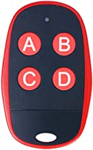 Universal Garage Door Remote Universal Gate Remote 4-Buttons Programmable Learning Multi Frequency 280MHZ-868MHZ Universal Garage Opener Remote Homelink Remote (Red)