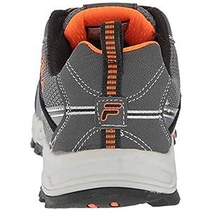 Fila Men's Memory at Peak Composite Toe Trail Running Shoe Food Service, Castlerock/Black/Vibrant Orange, 9 D US