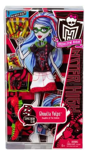 Mattel W2555 - Monster High Ghoulia Yelps Comic Book Club