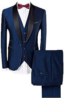 42c4eb67c5ffcb Botong Blue Shawl Lapel Men Suits 3 Pieces Wedding Suits for Men Groom  Tuxedos