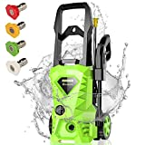 Homdox Electric Pressure Washer, Power Washer with 2500 PSI,1.6GPM, (4) Nozzle Adapter, Longer...
