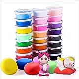 Pâte À Modeler, 24 couleurs Ultra Légère Non Toxique argile de modélisation Magic Clay, DIY Creative éducatif Cadeau,meilleur cadeau pour les enfants