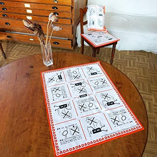 DADAISMUS Küchentuch Platzdeckchen Tischdecke Bio-Baumwolle