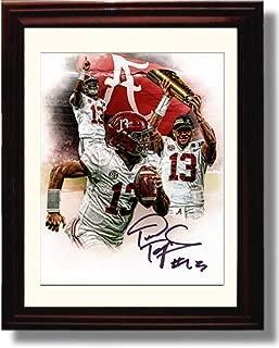 Framed Tua Tagovailoa Celebration Alabama Crimson Tide Autograph Replica Print