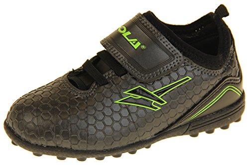 Gola - Activo 5 - Botas de fútbol infantiles, para césped aritficial, zapatillas para deporte, color Negro, talla 27 EU