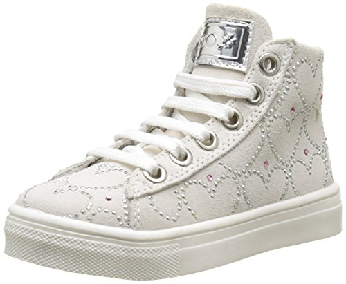 Asso, Sneaker a Collo Alto Bambina, Bianco, 36 EU
