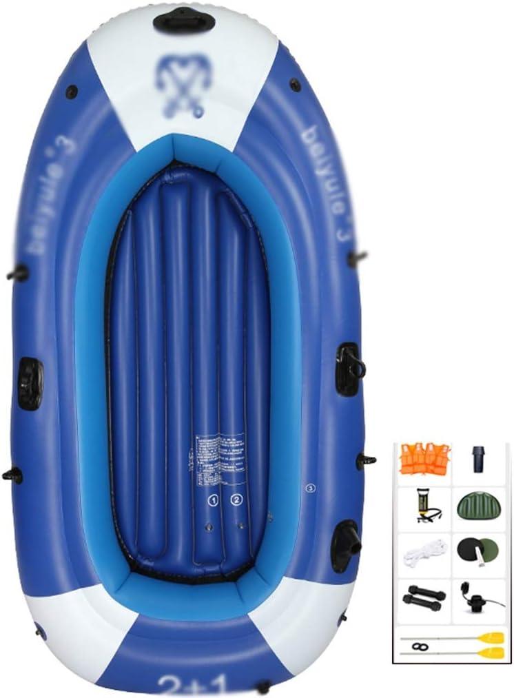 YUESFZ Kayaks y piraguas de mar Canoas Hinchables Barco De Pesca De Plástico SÚPER Duro, Kayak Engrosado para Piscina De Seguridad, Canoa Inflable para Uso Marino, 4 Cámaras De Aire Independientes