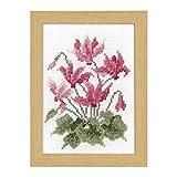 オリムパス製絲 刺しゅうキット 12ヶ月の花フレーム マリー・カトリーヌコレクション クロスステッチキット 11月シクラメン 7518