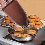 MeTikTok Feliz Donut - Herramienta De Fabricación Donas Donut Plástico Molde para Hornear Dispensador Acero Inoxidable Donuts para Deliciosos Mini Douggnuts Postre Casero DIY Pastelería,Marrón