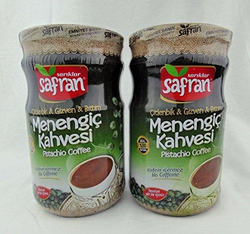 Safran Traditional Coffee Series (Turkish) (Menengic (Pistachio) Coffee 21.16 Oz, Pack of 2)