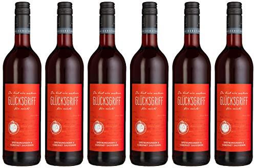 Glücksgriff Spätburgunder & Cabernet Sauvignon Qualitätswein Feinherb (6 x 0.75 l)