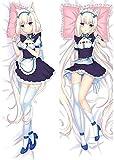 Promini Sexy Girl Japanese Anime Game Nekopara Chocola Vanilla Throw Otaku Dakimakura Gifts Bedding Hugging Body Pillow Body Pillow Cover Pillowcases 20' x 60'