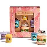 Yankee Candle Coffret cadeau | 3 bougies votives parfumées et 1 petite bougie en pot | Collection The Last Paradise | Idéal pour la fête des mères