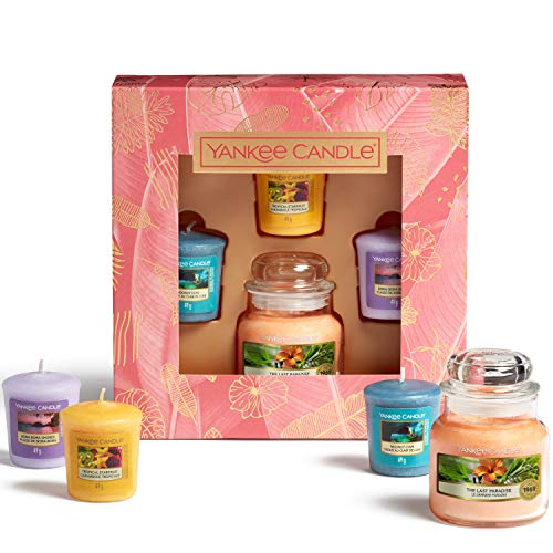 Yankee Candle Geschenkset 3 Votivkerzen und 1 kleines Jar 104g