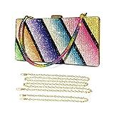 BAIGIO Embrague de la Tarde Bling Glitter Purse Diseño Monedero de la Boda Bolso para Fiesta de Graduación Señoras Bolso de Embrague de Noche de Diamantes de Imitación (Tipo 3)