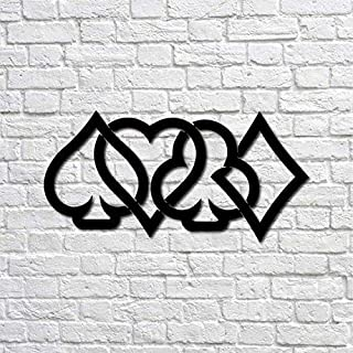 Lasaani Playing Card Symbols stickable ACP Plaque Painted Cutout Home Decor Wall Art for Living Room  Wall Piece for Decor...
