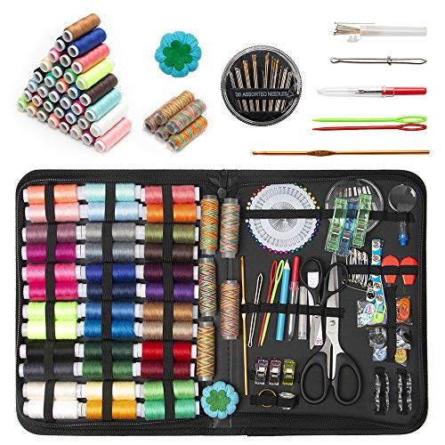 GOANDO Sewing Kit for Adults Needle and Thread Kit for Sewing Upgrade 41 Spools of Thread 206 Pcs Oxford Fabric Case Portable Basic Sewing Repair Kits for Beginners Traveler Emergency