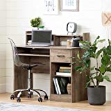 South Shore Axess Desk with Keyboard Tray-Weathered Oak