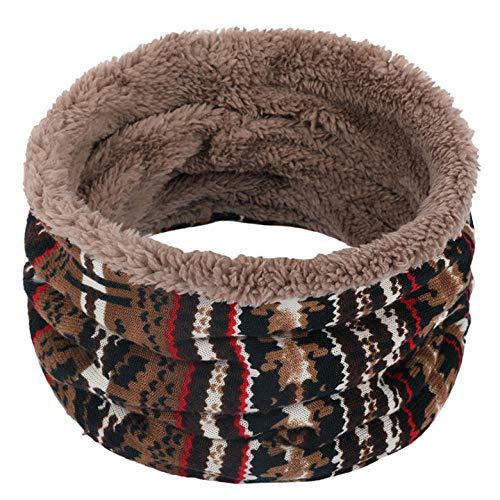 Songqiang Mode Herbst Winter Baumwolle Schal Frau Mann Kind Schal Dicke Wolle Kragen Schal Unisex-Brown_Einheitsgröße