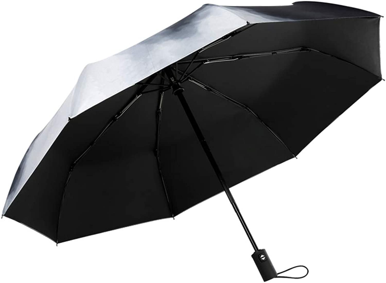 ZWYY ZWYY ZWYY Travel Umbrella, Fully-Automatic 5 Falten Umbrella Windproof Compact Sun Umbrellas Sunscreen Anti-UV Stick Umbrellas B07QB1F332 baa992