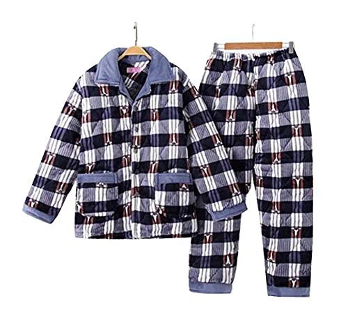 Dragon Troops Conjunto de Pijama de Terciopelo de Coral Flannel Velvet Winter, Ropa de Dormir y de Dormir, A3