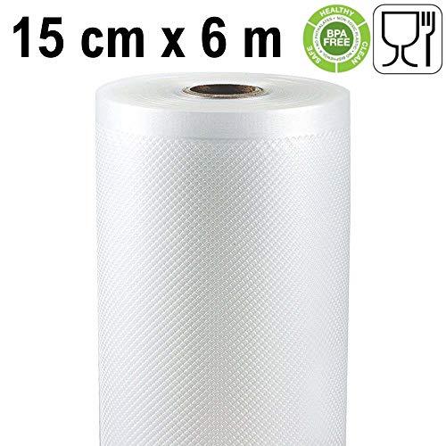 Rollo gofrado de envasado al vacío (28cm x 6 metros) (2 uds.) para Todo Tipo de envasadora doméstica, Foodsaver, Lacor, Caso, Silvercrest, etc.