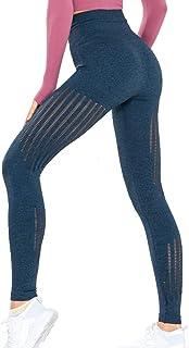 Beiziml Women Skinny Yoga Pants Quick Drying High Waist Breathable Fitness Seamless Legging Sports Running Training Pant