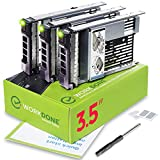 "WORKDONE Pack 3uds. Bandeja HDD Caddy 3,5"" con Adaptador 2,5""- Compatible con Servidor DELL PowerEdge - Manual - Etiquetas Adhesivas Parte Frontal"