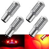 4pzRosso 1157 BAY15D 5630 33SMD Lampadine LED per auto 900LM Super luminoso LED Luci di stop Luci di coda Lampada Luci di parcheggio Luce di backup 12-30 V 3.6 W