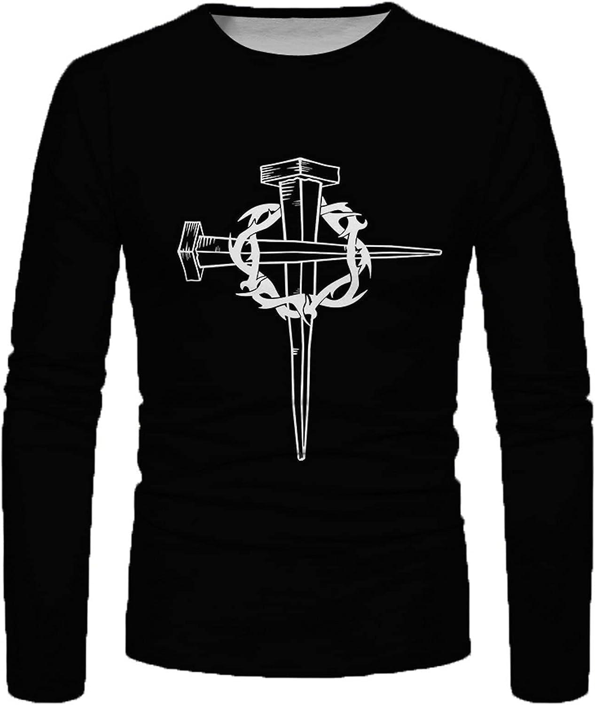 T-Shirt for Men Crew Neck Sweatshirt Men's Long Sleeve Henley Shirts Slim Fit Casual Cotton T-Shirt Autumn Tops