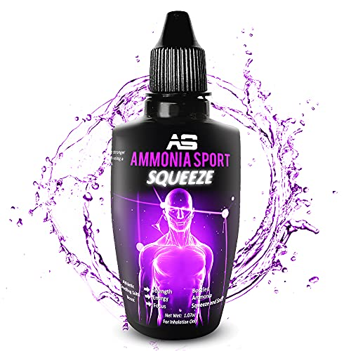 Athletic Smelling Salts - Squeeze - Squeeze & Sniff! 100's of Uses Per Bottle - Squeeze - Pre-Activated with 100's of Uses Per Bottle - Alert Supplement - Adrenaline Supplement - by AmmoniaSport