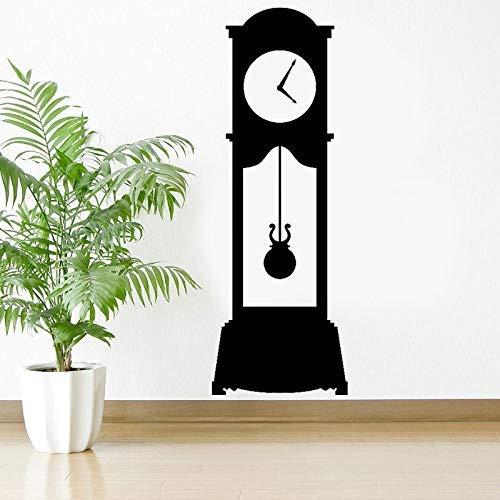Standuhr - Wandtattoo Benutzerdefinierte Vinyl-Kunst-Aufkleber für Wohnzimmer Moderne Wandkunst Wasserdichtes DIY-Wandbild 42 * 120 cm