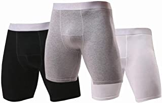 Fuliya Men's Boxer Shorts Cotton Comfort Trunks Soft Breathable Mens Underwear Boxer Briefs(3 PCS)