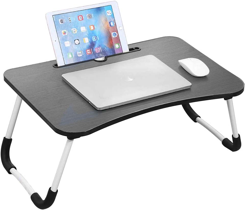 BIG.TREE Foldable Laptop Bed Desk Tray Table with Folding Legs,