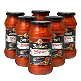 Vegan Bolognese Premium Italian Pasta Sauce by Botticelli, 24oz Jars (Pack of 6) - Product of Italy...