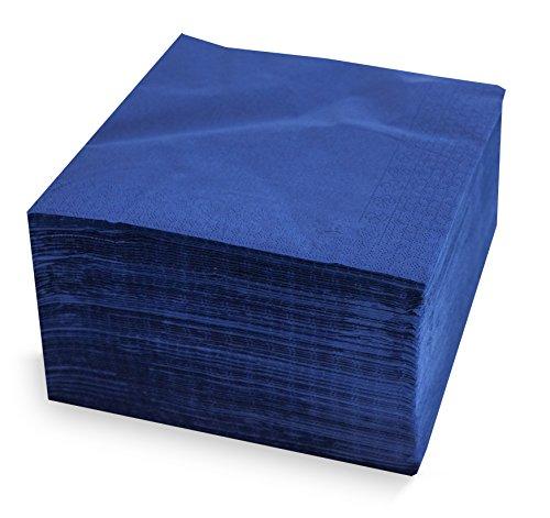 MORIGAMI SER4230239 Servilleta 40x40, 2 capas, pliegue 1/4, 100 servilletas, 2 capas lisa con cenefa, Azul