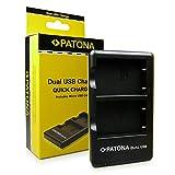 PATONA Cargador Doble para EN-EL5 Batería Compatible con Nikon CoolPix 3700 4200 5900 6000 7900