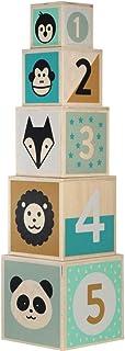 Kindsgut Blokkentoren van hout, houten speelgoed voor baby's, hout