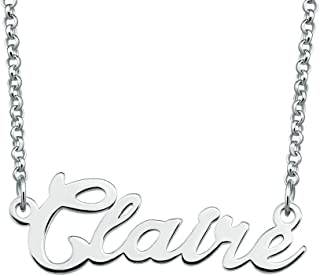 Personalized Name Necklace Custom Made Sterling Silver Pendant Women Choker Jewelry Same Day Shipping Valentine's Gift for Her