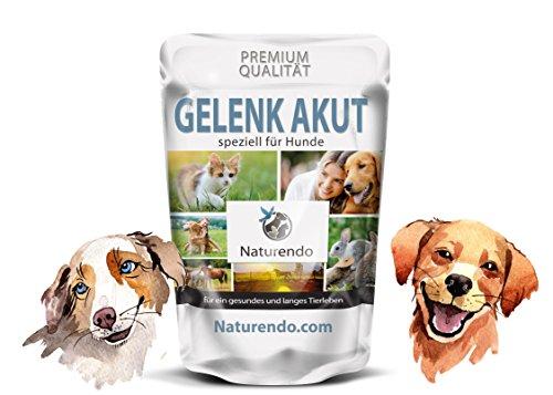 Naturendo.com Gelenk Akut speziell für Hunde - 400g Gelenke Formel mit MSM+ Chondroitin Glucosamin Collagen Bänder Sehnen Gelenk Hunde