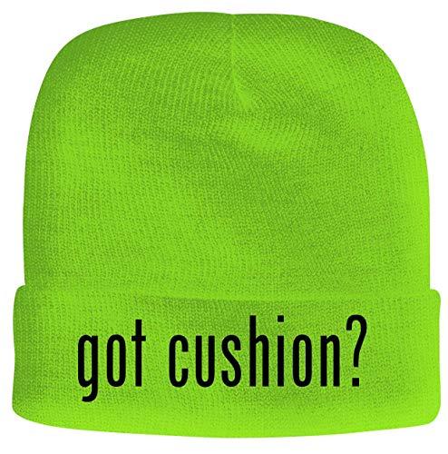 BH Cool Designs got Cushion? - Men's Soft & Comfortable Beanie Hat Cap, Neon Green, One Size