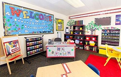 Teacher Created Resources Black Polka Dots Storage Pocket Chart (20750) Photo #4