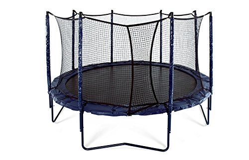 good quality trampolines JumpSport 14' Elite   Includes Trampoline and Safety Enclosure   Unforgettable Overlapping Doorway   Easy-Up Net Installation   Exclusive Spring Technology for Performance and Safety